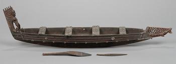 6.《戦闘用カヌー(模型)》 ニュージーランド、マオリ 国立民族学博物館蔵